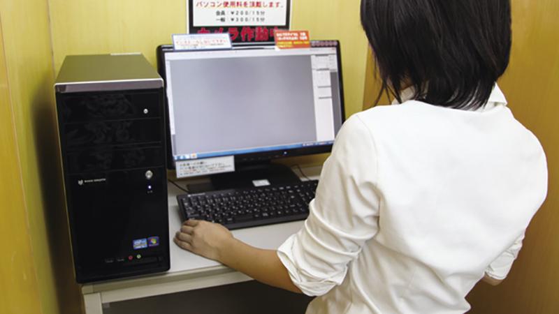 セルフパソコンの使用風景