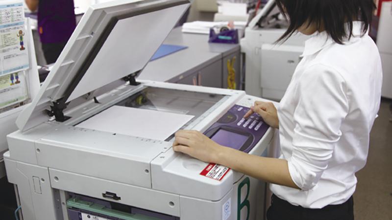 セルフスピード印刷の使用風景